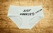 Personalised Womens Underwear Funny Funny Just Married Wedding Novelty Knickers