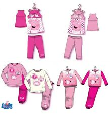 PEPPA PIG PYJAMAS GIRLS PJS NIGHTWEAR AGE 2-8Y OFFICIAL LICENSED