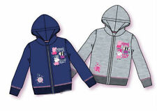OFFICIAL PEPPA PIG HOODIE JUMPER JACKET ZIPPED SIZE 2-8 YEARS BLUE GREY BNWT