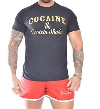 mens t shirts Cocaine and caviar training top cocaine and protein shakes t shirt
