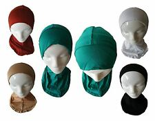 Hijab Plain Head Wear Under Scarf Hat Cap Bone Bonnet Neck Cover Modest Clothing