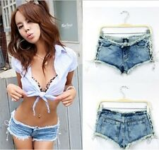 Sexy Style Women Denim Jeans Short Low Waist Lady Girls  Boots Pant S M L 15013