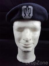 Poland Polish Air Force Beret with Badge, Assorted Sizes 55-60cm