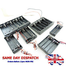 AAA AA 9V Battery Holder Case plus Wire and Switch for 1 2 4 6 8 Battery