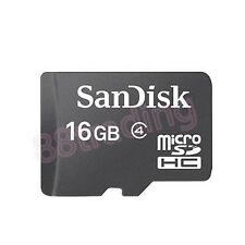 New 16GB San Disk Micro SD + Memory Card Reader FOR MOBILE PHONE + TABLET SERIES