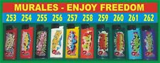 accendini MURALES SPRAY ART anno 2007 completa collezione SMOKING ENJOY FREEDOM