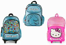 Kids Girls Backpack School Bag Children Backpack Trolley Rolling Wheels Luggage