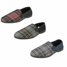 Mens Spot on check print slippers X2013    3 colours available   £9.99