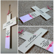 Personalised Wooden Cross - First Holy Communion Confirmation Boy Girl