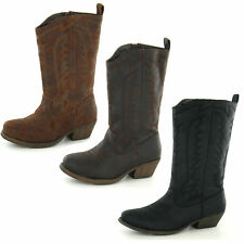 GIRLS ZIP UP COWBOY BOOTS BY CUTIE H5016 SALE NOW £19.99