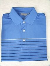 Ashworth EZ-TEC2 Golf Men'sTwin Stripe Pique Weave Polo Shirts AM3110