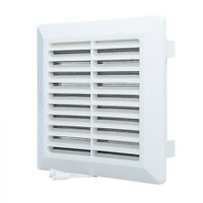Air Vent Grille with Fly Screen & Shutter White Ducting Ventilation Cover Grid