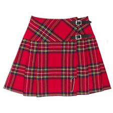 HM Scottish Mini Ladies Skirt Royal Stewart Tartan/Women Mini Skirt Kilt
