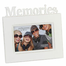 "Personalised Memories 6 x 4"" Vintage Cream Frame FW974MEM Engraved Message"