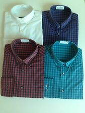 New Mens Shirt - Polycotton Quality Button Down Collar Long Sleeve Shirt