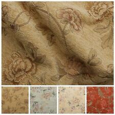 FLORAL DISTRESSED VINTAGE TRADITIONAL TAPESTRY CURTAIN CUSHION UPHOLSTERY FABRIC
