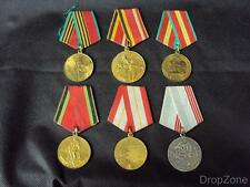 Russian Soviet USSR Military Commemorative WWII Jubilee Medals Assorted