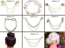 SIX OPTIONS Gold Hair Chain, Slide In, Hair Jewellery, Festival Hair Accessories