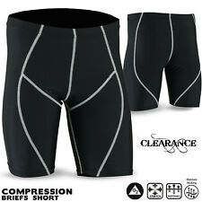 Mens Compression Shorts Base Layer Briefs Multi Sports All Season Wear Black