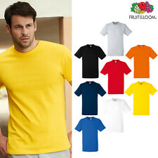 Men's Heavy Cotton Tee - Fruit of the Loom Plain Casual short sleeve T-shirt Top