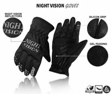 Cycling Gloves Bike Full Finger Night Vision Autumn/Winter Waterproof All Black