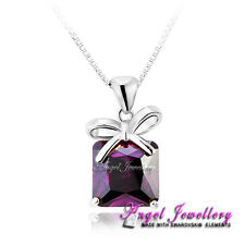 New 18K Gold Necklace Pendant With Swarovski Crystal Elements Gift