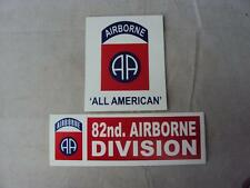 2 x US Army Military 82nd Airborne Division Vehicle Stickers