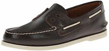 Sperry top-sider men's a/o 2eye slip on grey leather  boat shoe STS10047
