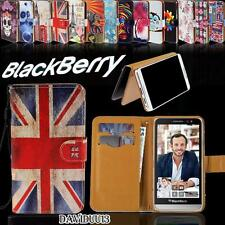 Folio Flip Wallet Card Stand PU Leather Case Cover For Various BlackBerry Phone