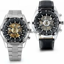 Skeleton Dial Men's Stainless Steel Automatic Mechanical Watch Wrist Watch Gift