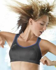Shock Absorber Sports Bra S4490 Sizes 30-40 B-HH. Blue Grey Firm Support.