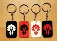 WOW WORLD OF WARCRAFT HORDE SILICON KEYRING - CHOICE OF FOUR COLOURS
