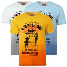 New Mens Tokyo Laundry Endless Ombre Printed Short Sleeve T-shirt Top Size S-XL