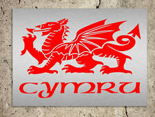 Metal Sign Wales Welsh dragon red metallic Cymru decorative tin wall plaque gift