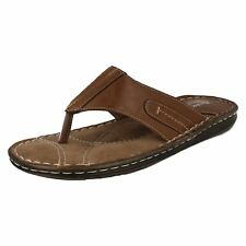Mens 861-4601 Brown Synthetic toe post sandal By Bata COMFIT £12.99