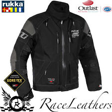 RUKKA ARMA-S CE APPROVED WATERPROOF GORETEX MOTORCYCLE MOTORBIKE JACKET BLACK