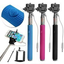 Extendable Monopod Selfie Stick Wired Remote Mobile holder For Apple iPhone 6-5s