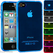 Traslucido Flessibile In Gomma Gel Grip TPU custodia Cover per iPhone Apple 4/4s
