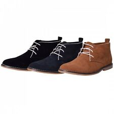 Mens Classic Designer Plain Desert Boots High Quality Smart Casual Ankle Shoes