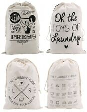 Cotton Laundry Stuff Storage Drawstring Bag Reusable Strong Bags Tidy