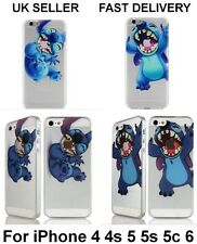 Cute Cartoon Character Lilo Stitch Hard Clear Cover case for iPhone 4 5 5S 5C 6