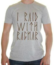 I RAID WITH RAGNAR Mens T-Shirt - Inspired by Vikings Ragnar - BNWT