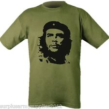 CHE GUEVARA FACE T-SHIRT IMAGE MENS 100% COTTON TOP MILITARY ARMY