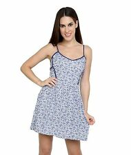 SummerSALE Girls Summer Floral Skater Dress Strappy Sexy Back BLUE WHITE Lefties