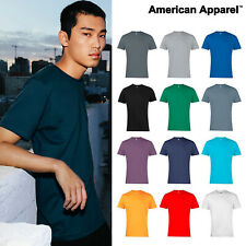 American Apparel T Shirt Jersey Top tee 12 Colours AA001 Unisex men women fine