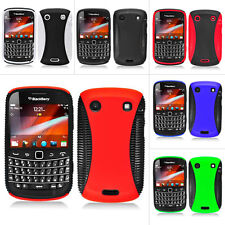 For BlackBerry Bold Touch 9900 9930 Colorful Black Dual Flex Hard Case