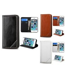 For iPhone 5 5S Leather Credit Card Slot Wallet Stand Leather Cover Case