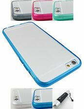 FOR APPLE IPHONE 6 ULTRA THIN TRANSPARENT TPU SKIN CASE COVER ACCESSORY+STYLUS