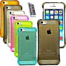 ULTRA SLIM RUBBER SOFT SILICONE GEL GRIP SKIN BUMPER CASE COVER FOR IPHONE 5 5S
