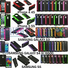 Dual Layer Hybrid Hard PC Case for iPhone 4 4S iPhone 5 5S Samsung S 3 S 4 S 5